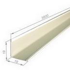 Угол 19х19 мм Белый, длина 3 метра, для подвесных потолков
