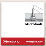 Потолок Армстронг с плитой Прима Плейн Микролук (Prima Plain) Microlook 600х600х15мм