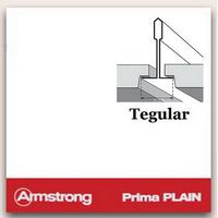 Потолок Армстронг с плитой Прима Плейн Тегулар (Prima Plain) Tegular 600х600х15мм