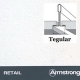 Потолок Армстронг с плитой Ритейл Тегулар (Retail Tegular) 600х600х14мм