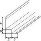 Угол PLL Албес W-образный Белый, длина 3 метра, для кромки Tegular и Microlook