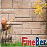 Фасадные панели (Цокольный сайдинг) FINEBER/ФАЙНБИР, Размер-1100х460мм