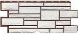 Цокольный сайдинг т-сайдинг дикий камень белый 1013 техоснастка