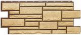 Цокольный сайдинг т-сайдинг дикий камень пустынный (желтый) 1001 техоснастка