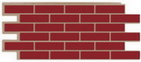 Цокольный сайдинг т-сайдинг керамит бордовый (красный) 3009 техоснастка