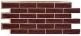 Цокольный сайдинг т-сайдинг лондон брик коричневый 8016 техоснастка