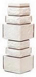 Угол цокольный т-сайдинг дикий камень белый 1013 техоснастка