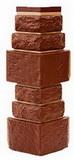 Угол цокольный т-сайдинг дикий камень коричневый 8016 техоснастка
