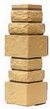 Угол цокольный т-сайдинг дикий камень пустынный (желтый) 1001 техоснастка