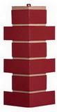 Угол цокольный т-сайдинг керамит бордовый (красный) 3009 техоснастка