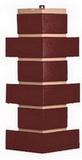 Угол цокольный т-сайдинг керамит коричневый 8016 техоснастка