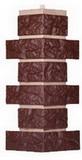 Угол цокольный т-сайдинг лондон брик коричневый 8016 техоснастка
