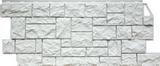 Фасадная панель FineBer Камень дикий Мелованный Белый (1117х463мм)