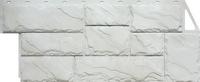 Фасадная панель FineBer Камень крупный Мелованный Белый (1080х452мм)