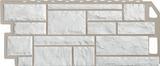 Фасадная панель (цокольный сайдинг) fineber камень мелованный белый (1137х470мм)