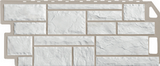 Фасадная панель FineBer Камень Мелованный Белый (1137х470мм)