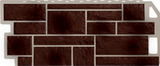 Фасадная панель (цокольный сайдинг) fineber камень natur коричневый (1137х470мм)