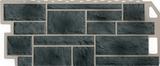 Фасадная панель (цокольный сайдинг) fineber камень natur серо-зеленый (1137х470мм)
