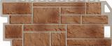 Фасадная панель (цокольный сайдинг) fineber камень natur терракотовый (1137х470мм)