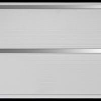 Панель ПВХ 3х0,24м Белая Серебро 2-х секционная