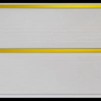 Панель ПВХ 3х0,24м Белая золото 2-х секционная