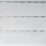Панель ПВХ 3х0,24м Элегия белая 3-х секционная