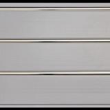 Панель ПВХ 3х0,24м Белая Серебро 3-х секционная
