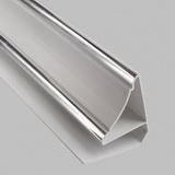 Плинтус потолочный ПВХ 3м Белый Серебро