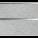 Панель ПВХ 3х0,24м Штрих зеленый Серебро 2-х секционная