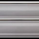 Панель ПВХ 3х0,2м Волна белая Серебро 2-х секционная