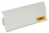 Плинтус 55х22мм напольный пластиковый Идеал Комфорт (Ideal) 001 Белый