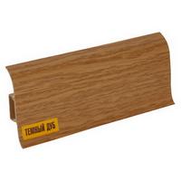 Плинтус 55х22мм напольный пластиковый Ideal / Идеал Комфорт К55 217 Дуб темный (длина-2,5м)