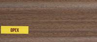 Плинтус 55х22мм напольный пластиковый Ideal / Идеал Комфорт К55 291 Орех (длина-2,5м)