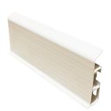 Плинтус 80х22мм напольный пластиковый Идеал Система (Ideal) 001 Белый Матовый с текстурой дерева