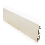 Плинтус 80х22мм напольный пластиковый Идеал Система (Ideal) 001-G Белый Гянцевый