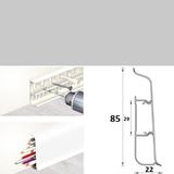Плинтус 85х22мм напольный пластиковый Идеал Deconika / Деконика Д-П85 002 Светло-серый (длина-2,2м)