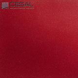 Металлический кассетный потолок с кассетой 300х300мм Cesal B002 Бордо