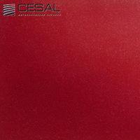 Металлический кассетный потолок с кассетой 300х300мм Cesal 002B Бордо