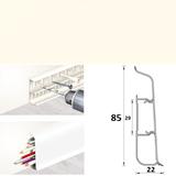 Плинтус 85х22мм напольный пластиковый Идеал Deconika / Деконика Д-П85 033 Кремово-белый (длина-2,2м)