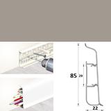 Плинтус 85х22мм напольный пластиковый Идеал Deconika / Деконика Д-П85 036 Платиново-серый (длина-2,2м)