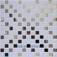 Металлический кассетный потолок с кассетой 300х300мм Cesal 051D Мозайка объемная белая