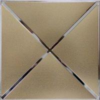 Металлический кассетный потолок с кассетой 300х300мм Cesal 0-60D Нефертити