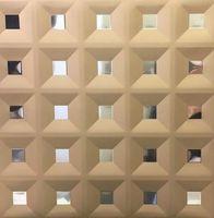 Металлический кассетный потолок с кассетой 300х300мм Cesal 0-64D Кессон золото