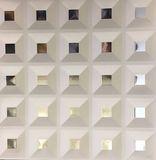Металлический кассетный потолок с кассетой 300х300мм Cesal 0-65D Кессон белый
