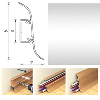 Плинтус 45х21мм напольный пластиковый Ideal / Идеал Альфа А45 081 Металлик (длина-2,5м)
