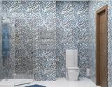 Панель ПВХ Unique 2,7х0,25м Мозайка голубая