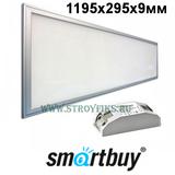 Светильник - панель светодиодная ультратонкая Smartbuy SBL-P295-40W-45K 1200х300мм (1195х295х9мм) 40Вт Опал 4500К Белый свет с LED-драйвером (Корпус Металлик)