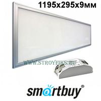 Светильник - панель светодиодная ультратонкая Smartbuy SBL-P295-40W-65K 1200х300мм (1195х295х9мм) 40Вт Опал 6500К Холодный свет с LED-драйвером (Корпус Металлик)