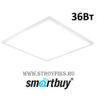 Светильник светодиодный офисный Армстронг Smartbuy SBL-UniMat-36W-65K Опал 595х595х30мм 36вт 6500К Холодный свет с LED-драйвером (Корпус белый)