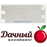 Фасадная панель Фасайдинг Дачный (Fineber) Сланец Белый (1137х470мм)